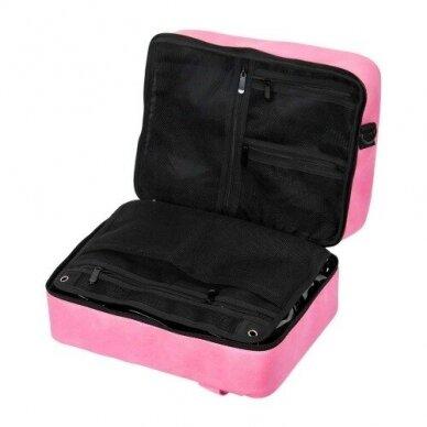 Dviejų skyrių makiažo krepšys KC-MAC01, rožinės sp. 3
