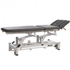 Elektrinis fizioterapijos, masažo stalas Weelko Carp, 3 dalių, 2 varikliai, juodos sp.
