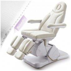 Elektrinis pedikiūro krėslas su trimis varikliais, baltas