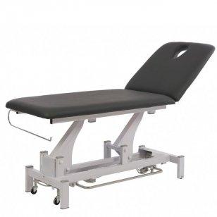 Elektrinis fizioterapijos, masažo stalas Weelko Torac, 2 dalių, 1 variklis, pilkos sp.