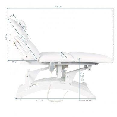 Elekrinė masažo lova BASIC 165 3 varikliai baltos sp. 8