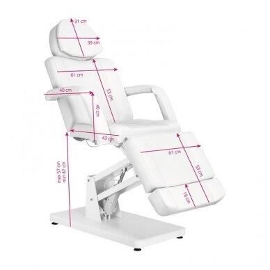 Elektrinė kosmetologinė kėdė BASIC 171, baltos sp. 2