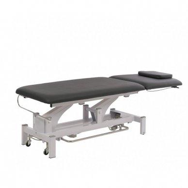 Elektrinis fizioterapijos, masažo stalas Weelko Torac, 2 dalių, 1 variklis, pilkos sp. 4