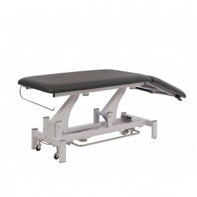 Elektrinis fizioterapijos, masažo stalas Weelko Torac, 2 dalių, 1 variklis, pilkos sp. 2