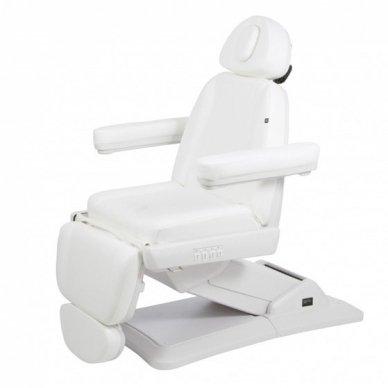Elektrinis kosmetologinis gultas Weelko Maxi, 3 varikliai, baltos sp.