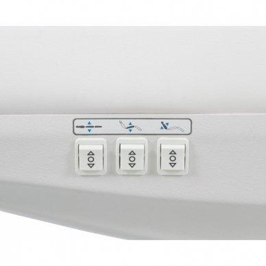 Elektrinis kosmetologinis gultas Weelko Tempo, 3 varikliai, baltos sp. 5