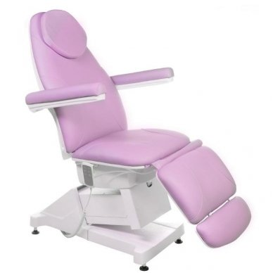 Elektrinis kosmetologinis krėslas BT-158, 3 varikliai, rožinė sp.