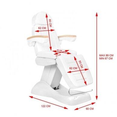 Elektrinis kosmetologinis krėslas LUX nuotolinis, belaidis valdymas 5