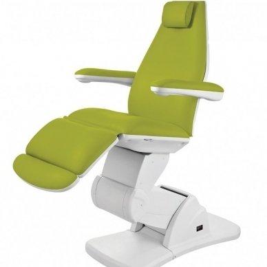 Elektrinis kosmetologinis krėslas Weelko Front 2244, 3 varikliai, žalios sp.