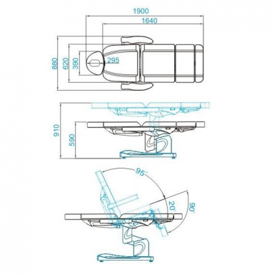 Elektrinis krėslas su 4 varikliais Azzuro 7