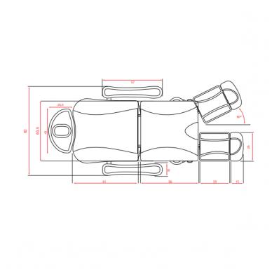 Elektrinis pedikiūro krėslas Weelko Talus, 3 varikliai, baltos sp. 4
