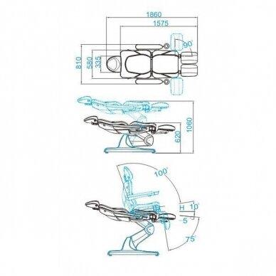 Elektrinis pedikūro krėslas AZZURRO 870S PEDI, pilkos sp. 3