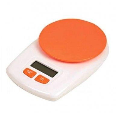 Elektroninės svarstyklės A-152, baltos ir oranžinės spalvos