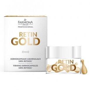 FARMONA RETIN GOLD stangrinančios dermakapsulės, 100% retinolis, 15 vnt.
