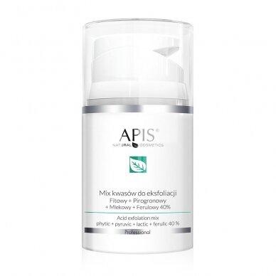 APIS rūgščių MIX: 40 %, pH 1.4: fitino + piruvo + pieno + ferulo, 50ml