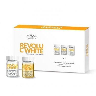 FARMONA rinkinys: grynas vitaminas C - kaukės aktyvatorius + aktyvus balinamas