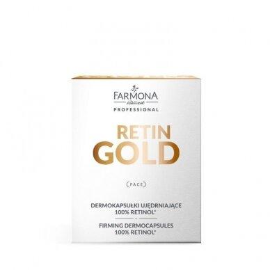 FARMONA RETIN GOLD stangrinančios dermakapsulės, 100% retinolis, 15 vnt. 2