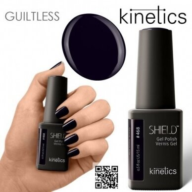 Gelinis nagų lakas Kinetics Shield Gel Polish NOT TODAY BOBBY #468, 15ml