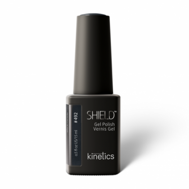 Gelinis nagų lakas Kinetics Shield Gel Polish #492 BLACK PARADE, 15ml
