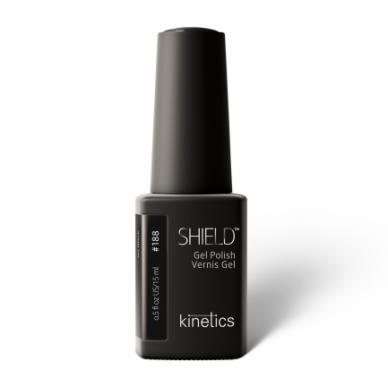 Gelinis nagų lakas Kinetics Shield Gel Polish JET BLACK #188, 15ml
