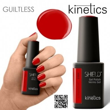 Gelinis nagų lakas Kinetics Shield Gel Polish SCARLET LETTER #464, 15ml