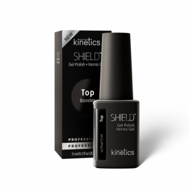 Gelio viršutinis sluoksnis Kinetics SHIELD BOOSTER TACK FREE TOP COAT, 15ml