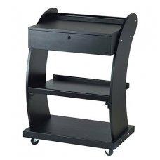 Grožio salono vežimėlis Weelko Support, juodos sp.