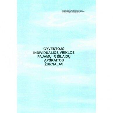 Gyventojo individualios veiklos pajamų-išlaidų apskaitos žurnalas