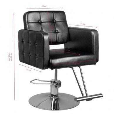 Kirpyklos kėdė HAIR SYSTEM 90-1, juodos sp. 4