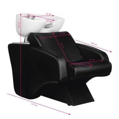 HAIR SYSTEM kirpyklos plautuvė, juodos sp. 2