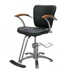 Hidraulinė kėdė kirpyklos klientams AB11, ruda