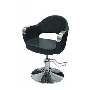 Hidraulinė kėdė kirpyklos klientams, juodos sp.