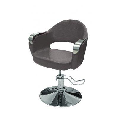 Hidraulinė kėdė kirpyklos klientams, rudos sp.