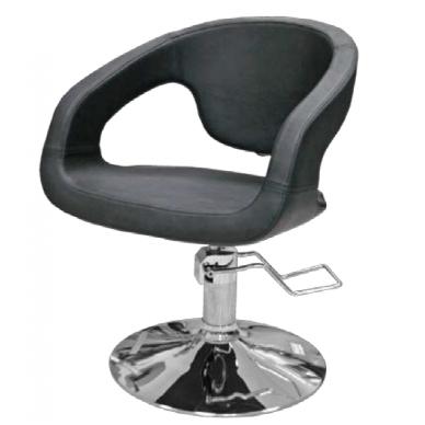 Hidraulinė kėdė kirpyklos klientams 332, juoda