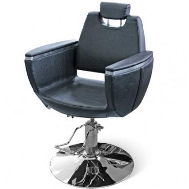 Hidraulinė kėdė kirpylos klientams, juodos sp.