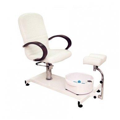 Hidraulinė pedikiūro kėdė su vonele, Weelko Astra baltos sp. 3