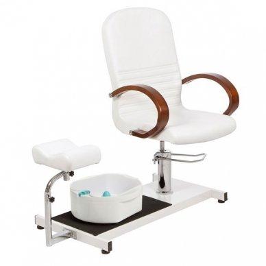 Hidraulinė pedikiūro kėdė su vonele, Weelko Astra baltos sp. 2