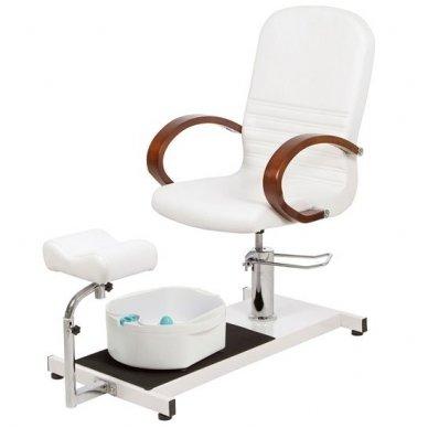 Hidraulinė pedikiūro kėdė su vonele, Weelko Astra baltos sp.
