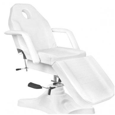 Hidraulinis kosmetinis krėslas A-234, baltos spalvos 5