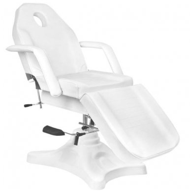 Hidraulinis kosmetinis krėslas A-234, baltos spalvos 3