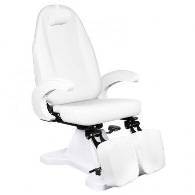 Hidraulinis pedikiūro krėslas, baltos sp.