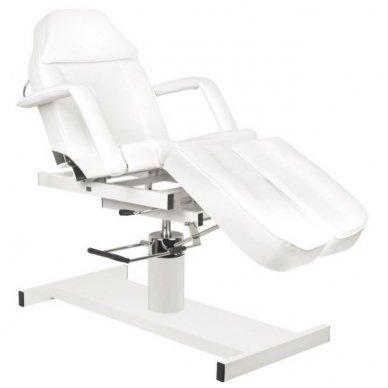 Hidraulinis pedikiūro krėslas PEDI A210C, baltos spalvos