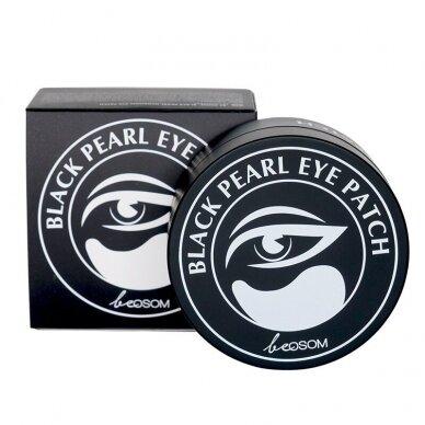 Hidrogelio paakių pagalvėlės Be Osom Black Pearl Hydrogel Eye Patch, su juodaisiais perlais, 60 vnt. 2