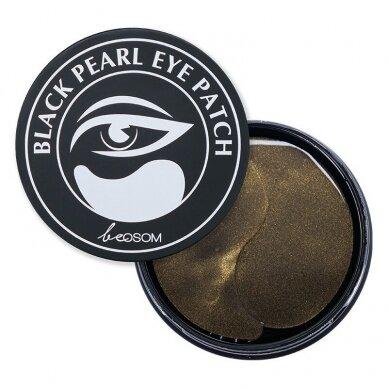 Hidrogelio paakių pagalvėlės Be Osom Black Pearl Hydrogel Eye Patch, su juodaisiais perlais, 60 vnt.
