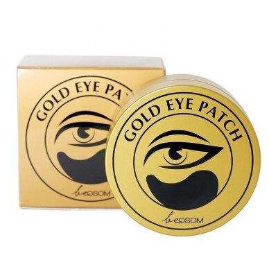 Hidrogelio paakių pagalvėlės Be Osom Gold Hydrogel Eye Patch, su auksu, 60 vnt. 2