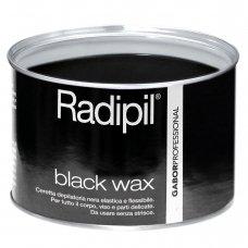 Juodas depiliacinis vaškas skardinėje Radipil Black Wax, veidui, kūnui ir jautrioms vietoms 400 ml