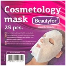 Kaukė kosmetinėms procedūroms iš neaustinės medžiagos, balta, 25 vnt. Beautyfor