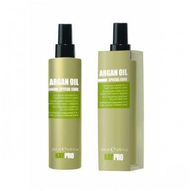 KAY PRO ARGAN OIL maitinamasis kondicionierius sausiems, nepaslankiems, nualintiems plaukams 10 in 1, 200 ml.