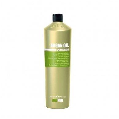 KAY PRO ARGAN OIL maitinamasis šampūnas sausiems, silpniems, nualintiems plaukams, 1000ml.