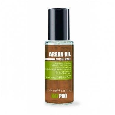 KAY PRO ARGAN OIL maitinantis argano aliejus sausiems, nualintiems, pažestiems plaukams, 100 ml